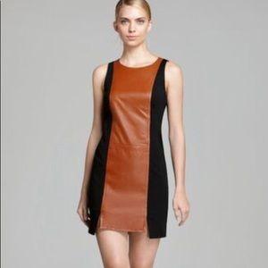 NWOT Trina Turk Leather Sleeveless Dress